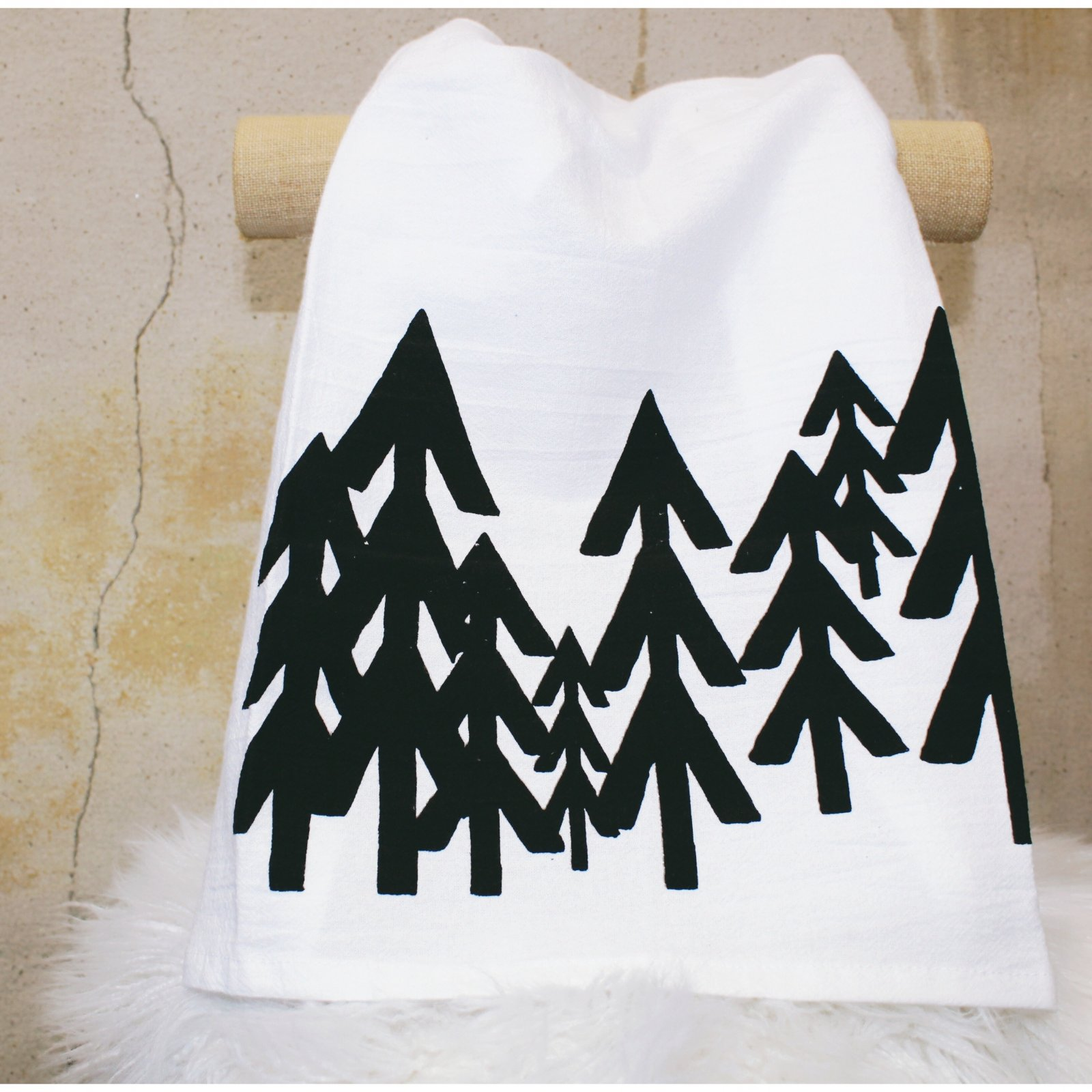 Modern Pines Tea Towel