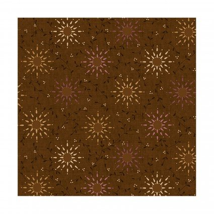 Prairie Vine 108 Wide Quilt Backs, HEG2237-38, Brown