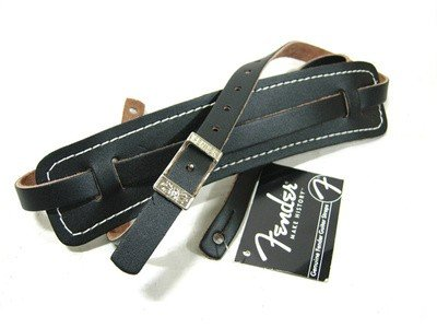 Strap,  Fender Vintage black leather with buckle