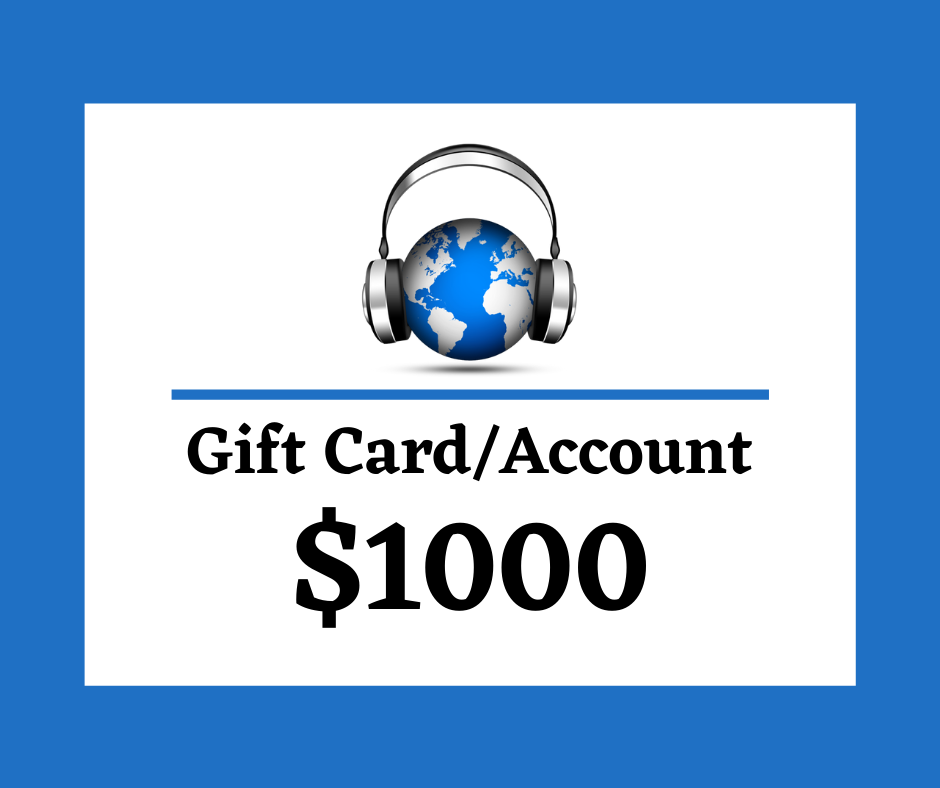 $1000 Digital Gift Card/Account