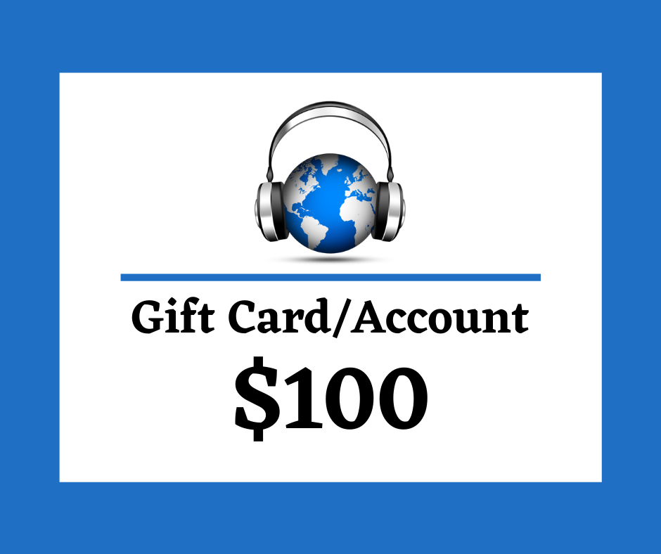 $100 Digital Gift Card/Account