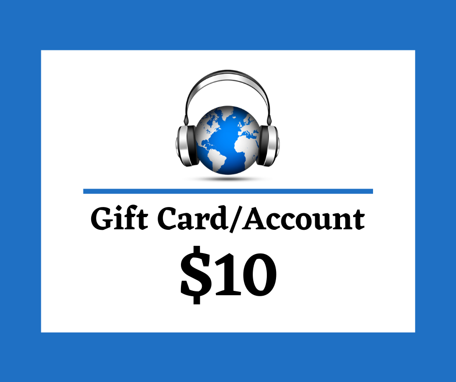 $10 Digital Gift Card/Account