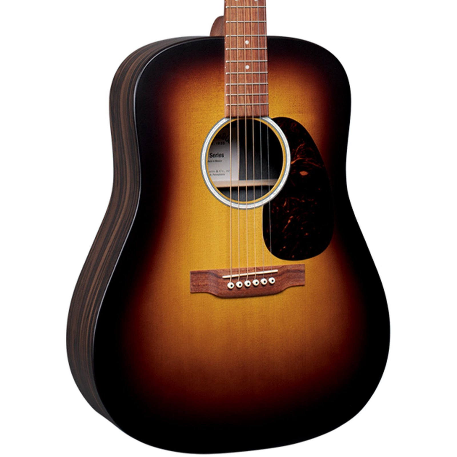 Martin DX2E Sunburst w/bag