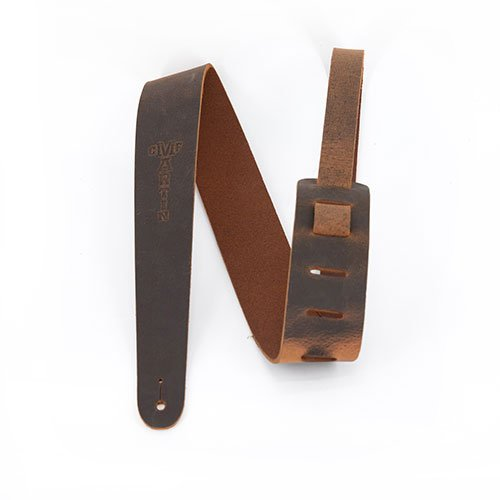 Martin Guitar Strap  2.5 Vintage Leather Belt Logo