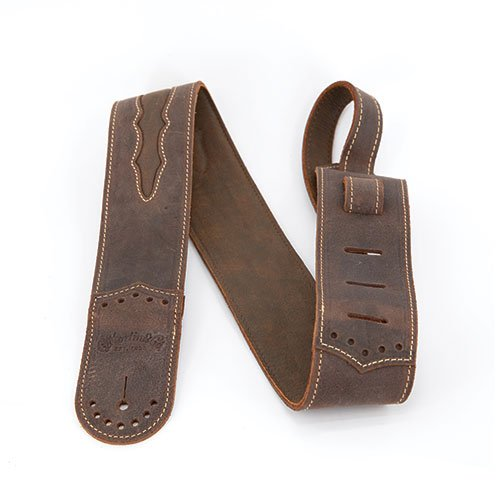 Martin Guitar Strap Leather Wingtip Dark Brown Inset