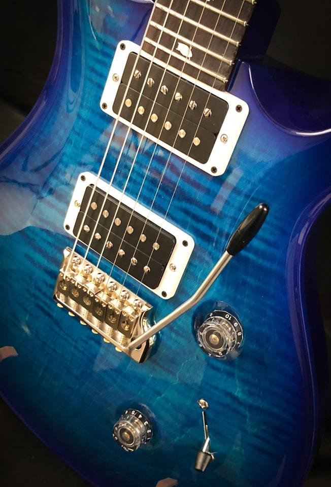 Custom 24 Blue Burst Custom Color w case