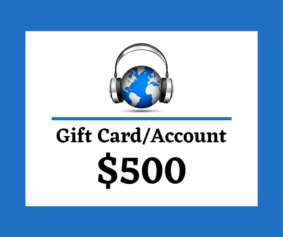 $500 Digital Gift Card/Account