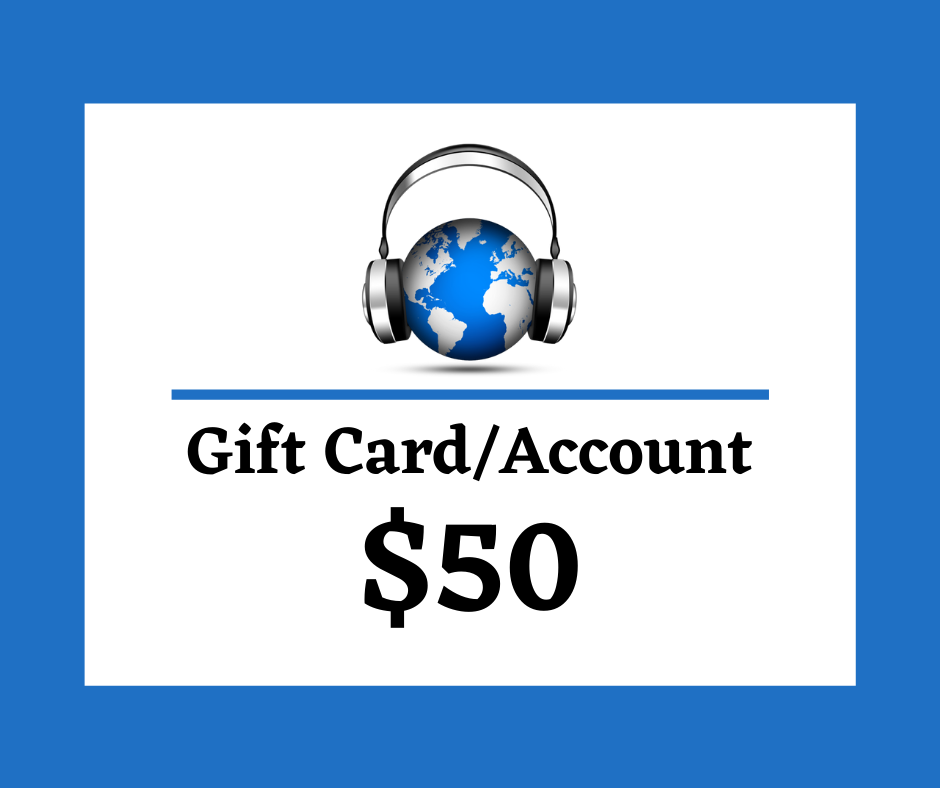 $50 Digital Gift Card/Account