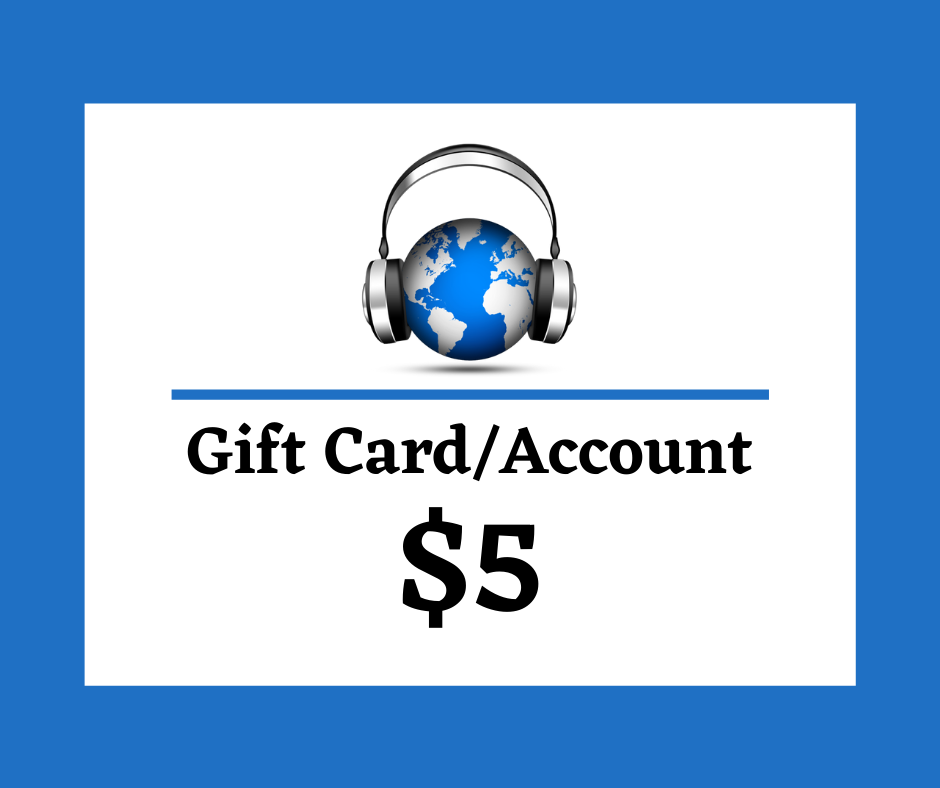 $5 Digital Gift Card/Account