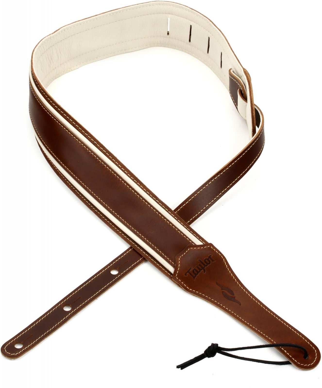 Element Strap , Brown / Cream Leather 2.5