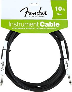 10' Instrument Cable Black