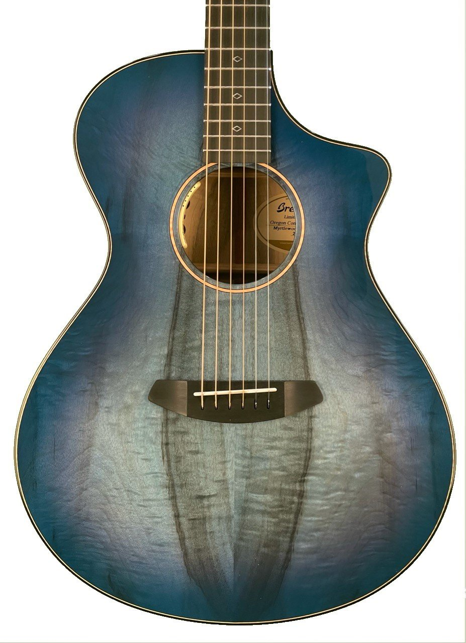 Breedlove Oregon Concert Blue Eyes all Myrtlewood Acoustic Electric Guitar with Case