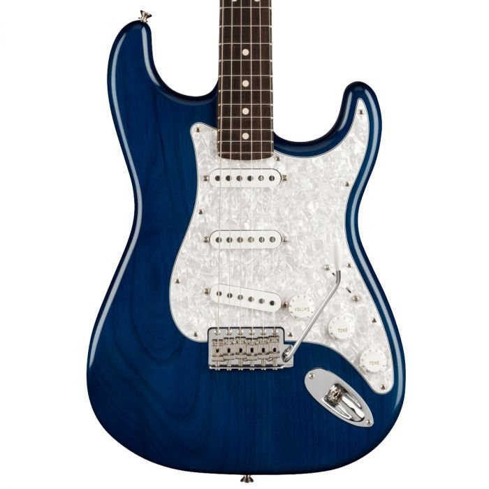 Fender Cory Wong Stratocaster with a Rosewood Neck in Sapphire Blue Transparent