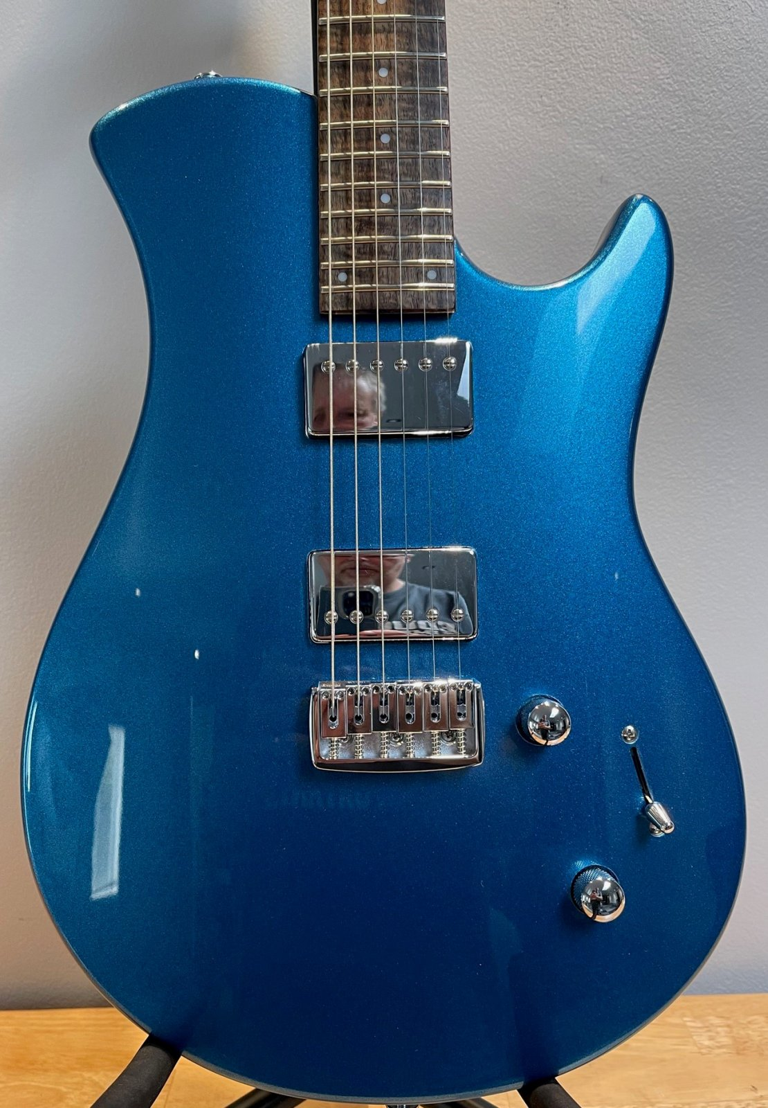 Relish Trinity Electric Guitar in Metallic Blue with a gig bag