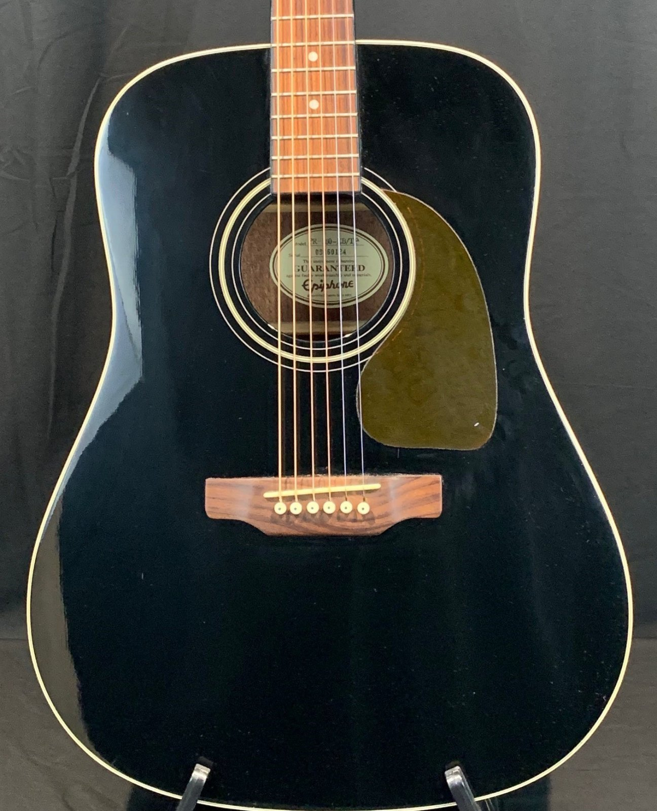 Used Epiphone PR-160-EB/TP with a chippy case