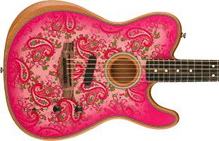 Acoustasonic Telecaster Pink Paisley Special Edition