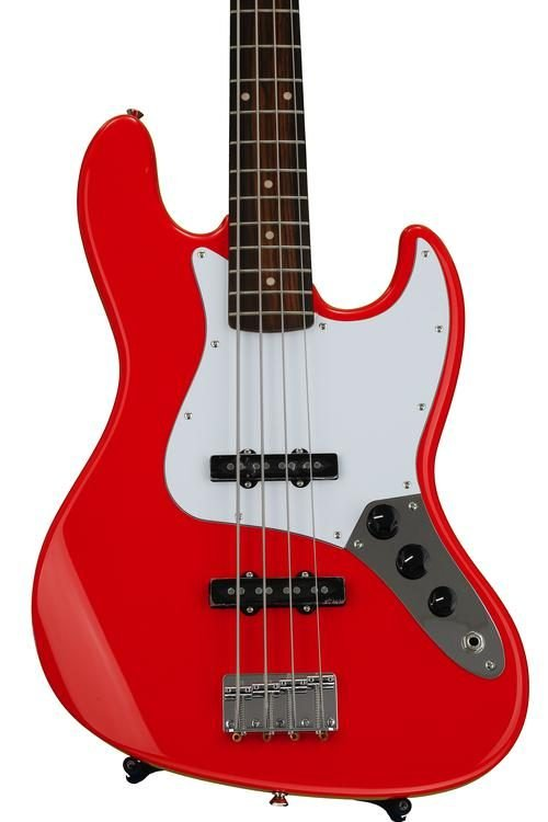 Fender Squire Affinity Jazz Bass  in Race Red