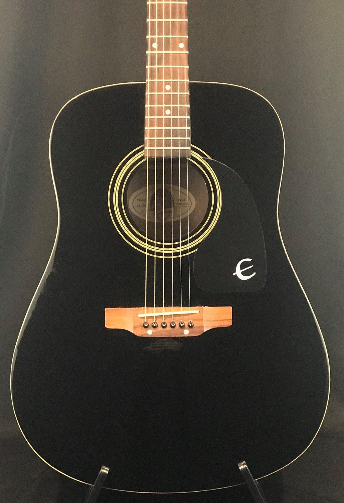 Used Epiphone PR200 EB Acoustic Guitar in Black