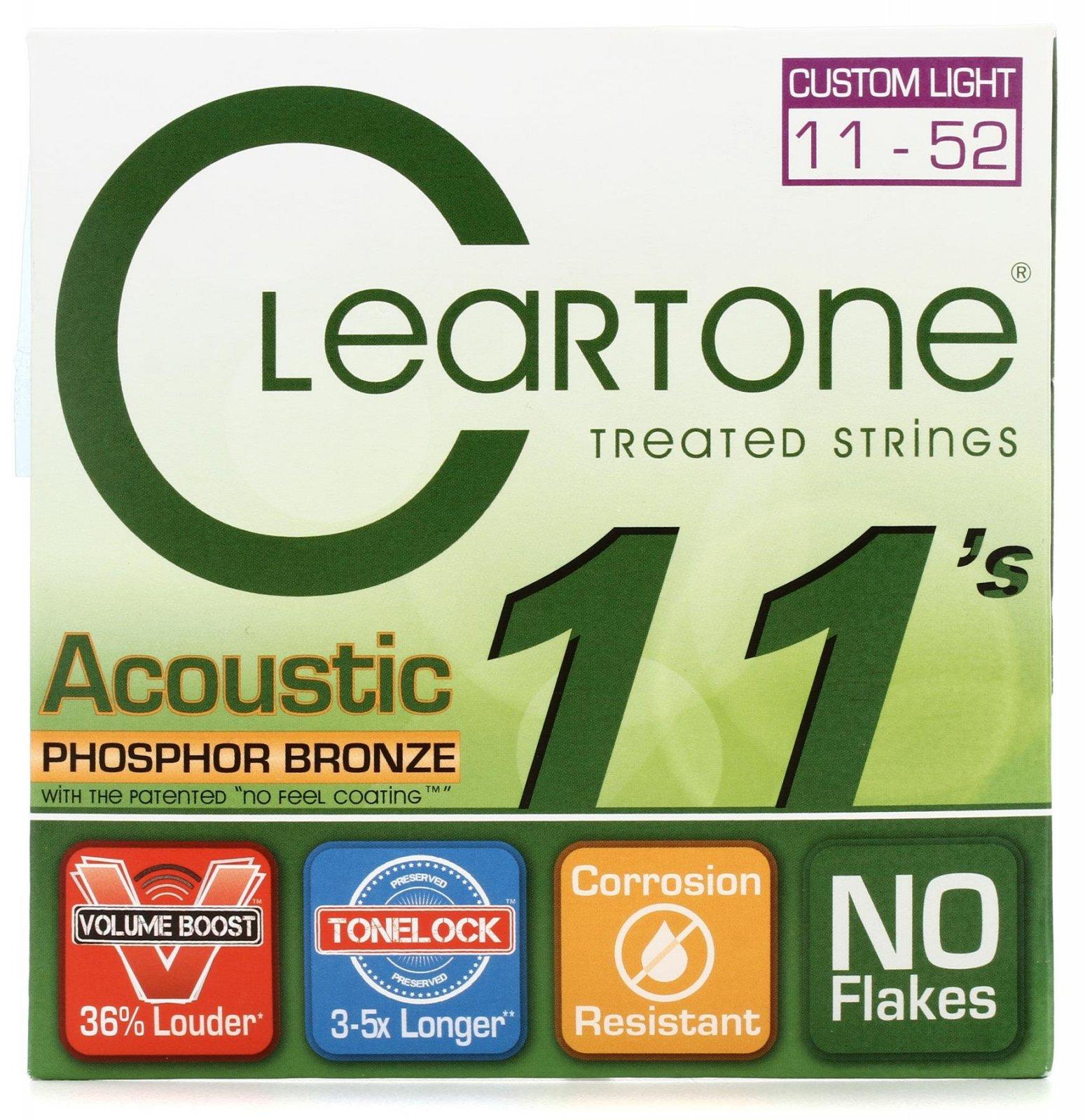 Cleartone Acoustic Treated Strings PB Cust Light