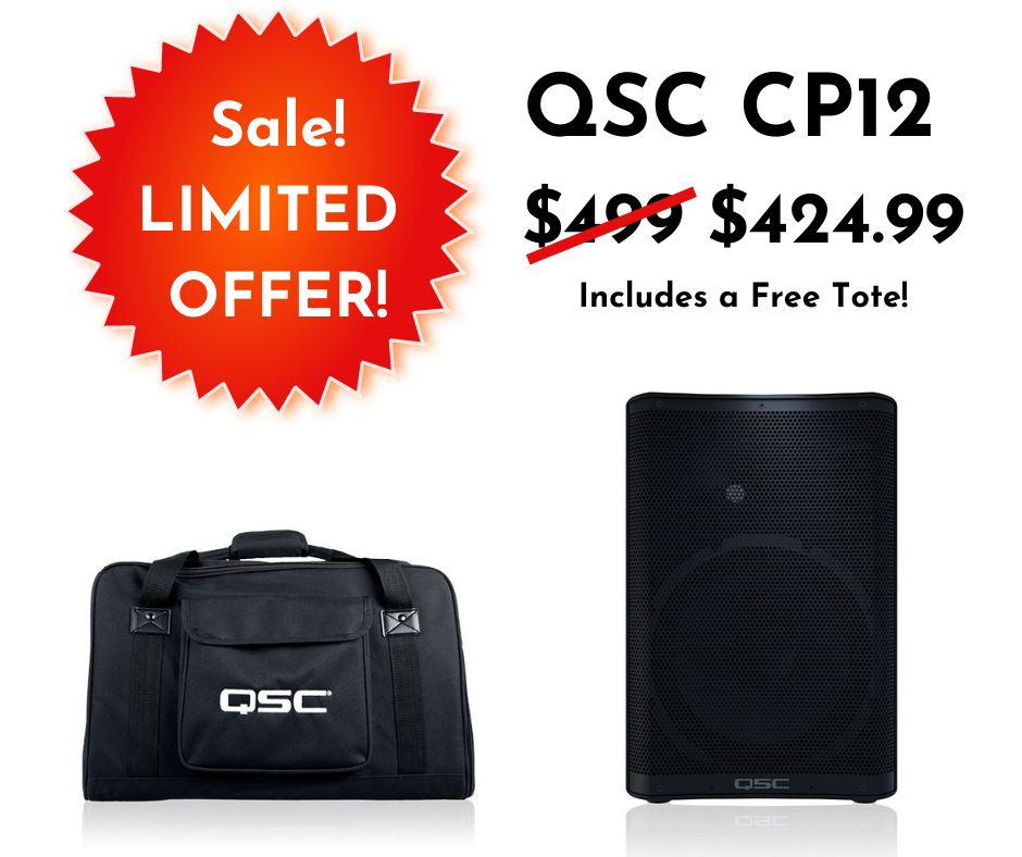 The QSC CP12 is on sale! Price is now $424.99, plus we'll give you a free tote.