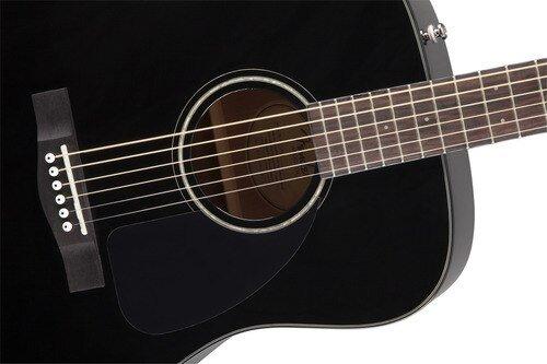 Fender CD-60 Dreadnaught Acoustic Guitar  V3 in Black with case