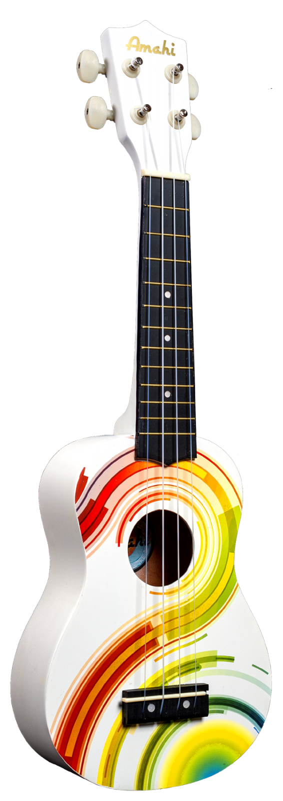 DDUK-7 White with Colored Pinstripe Swirls