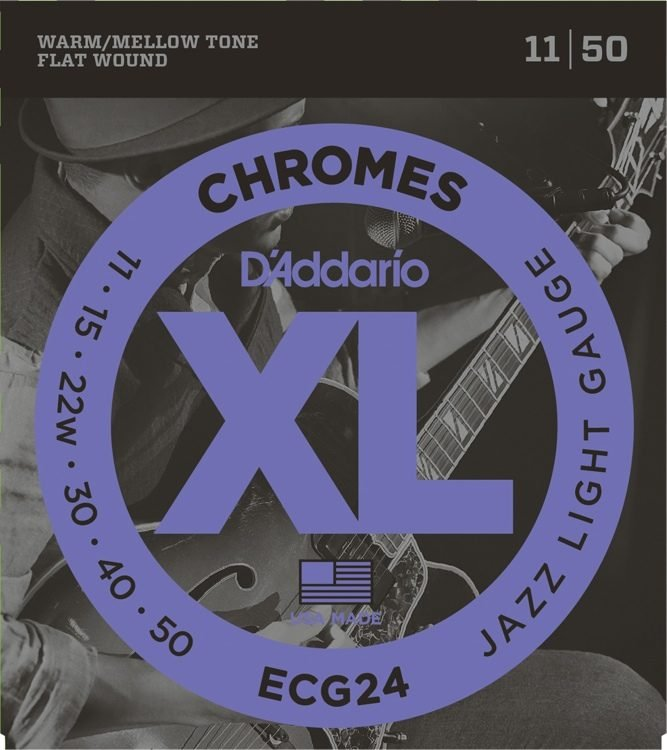 Flatwound Chromes   11-50  Electric Guitar Strings