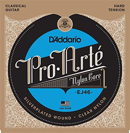 EJ46 Pro Arte'  Nylon Classical Strings Hard Tension