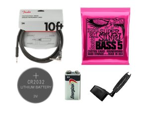 Bass Guitar Emergency Kit 2 (Straight to Angle Cable)