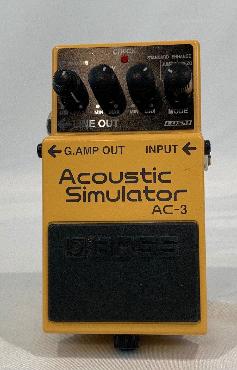 Used Boss AC-3 Acoustic Simulator Pedal