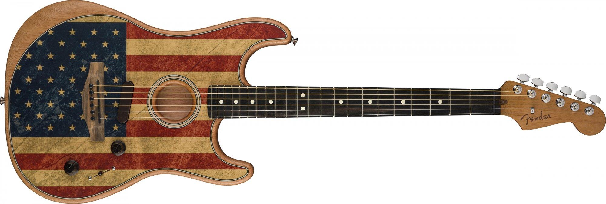 Fender Acoustasonic Stratocaster American Flag Ltd. Edition