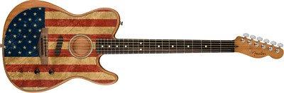 Fender Ltd Edition American Flag Acoustasonic Telecaster
