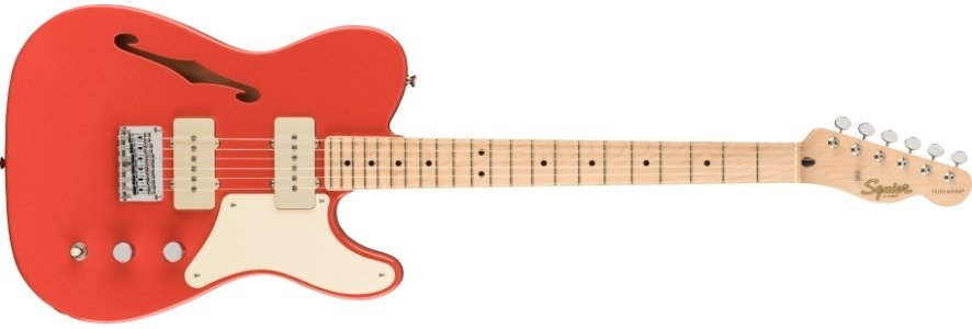 Fender Squier Paranormal Cobrionita Telecaster Thinline in Fiesta Red