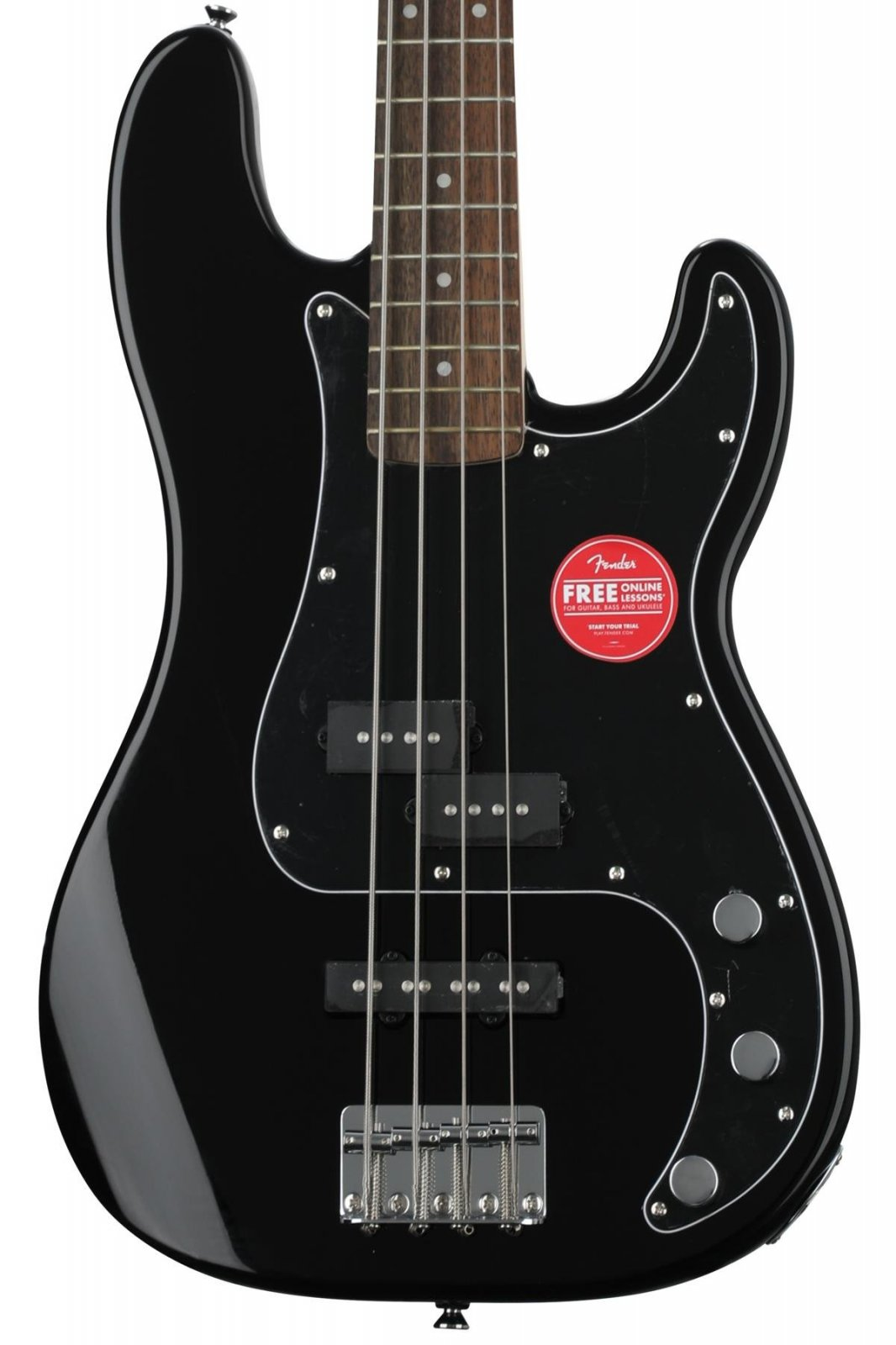 Fender Squier Affinity P Bass With a Laurel Fingerboard in Black