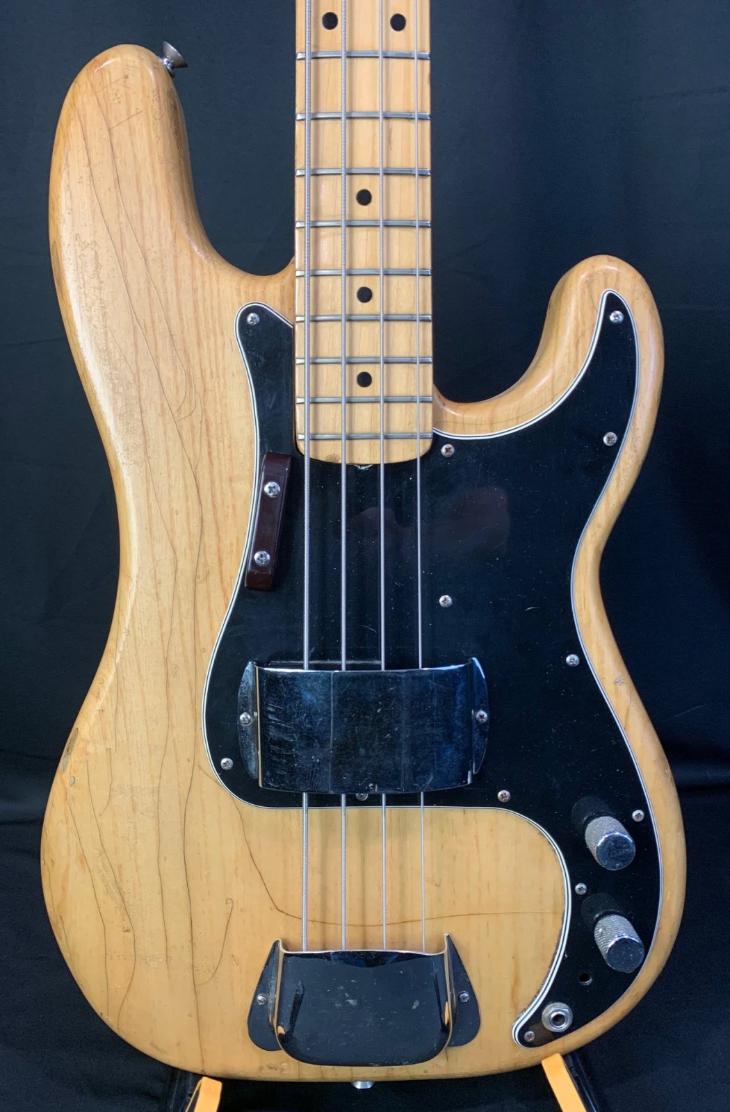 1976 Fender Precision Bass in Natural with a coffin case