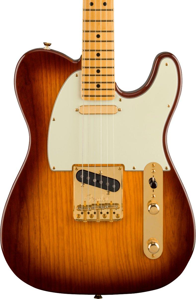 Fender 75th Anniversary Commemorative Telecaster with a Maple Neck in a 2 color bourbon burst finish