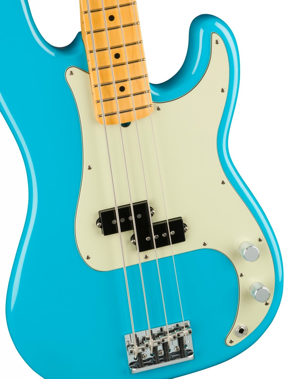 Fender American Professional  II P-Bass in Miami Blue with a Maple Neck