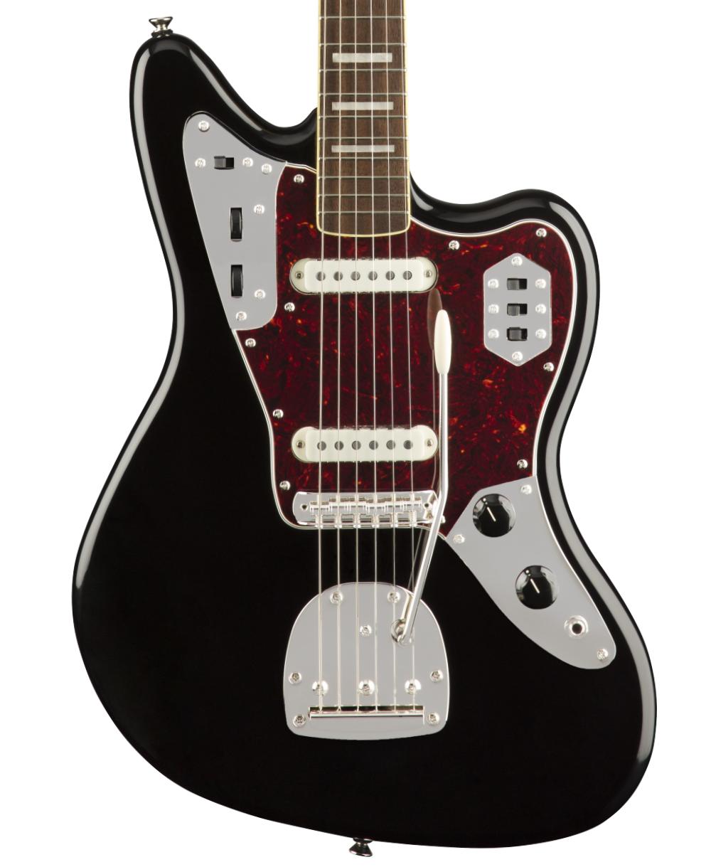 Fender Squire CV 70's Jaguar with a Laurel Fingerboard in Black