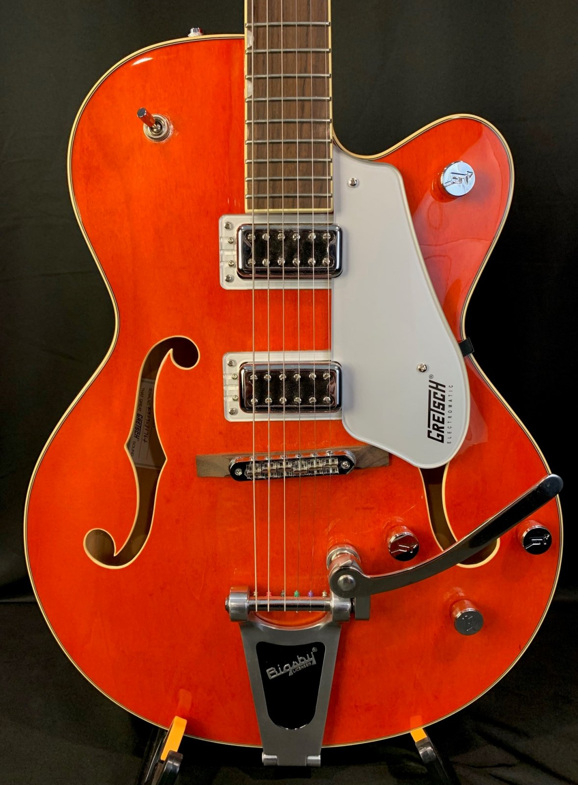 Used Gretsch G5420T EMTC HLH w/Bigsby in Orange with Hardshell Case