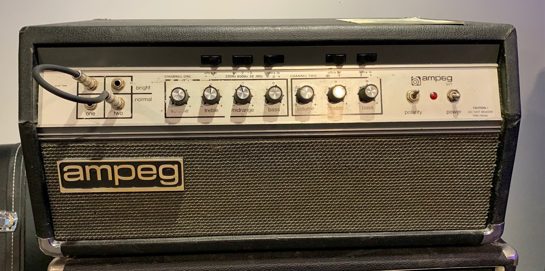 Used 1972 Ampeg SVT Vintage Bass Head