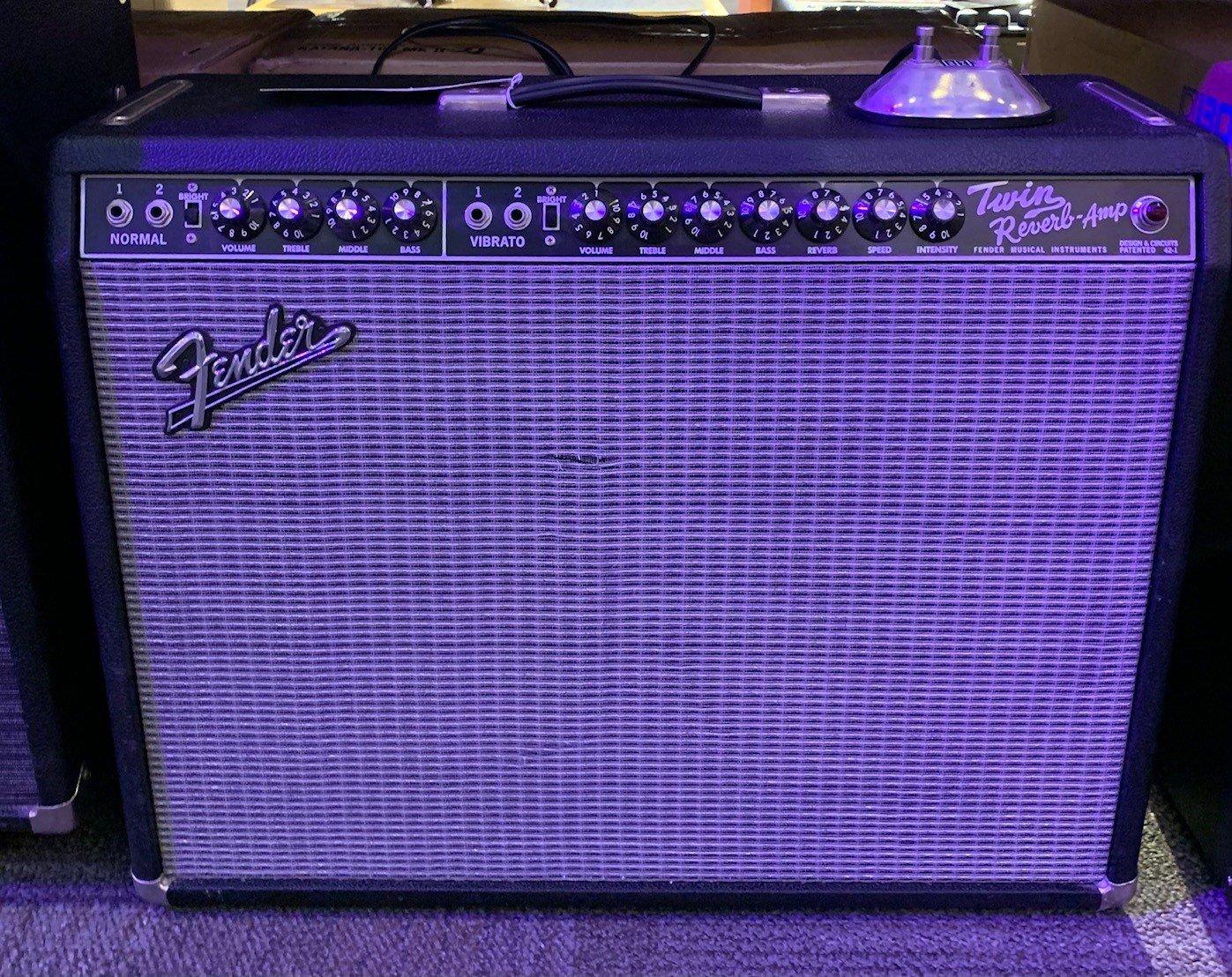Used Fender 65 Reissue Twin Reverb Guitar Amplifier
