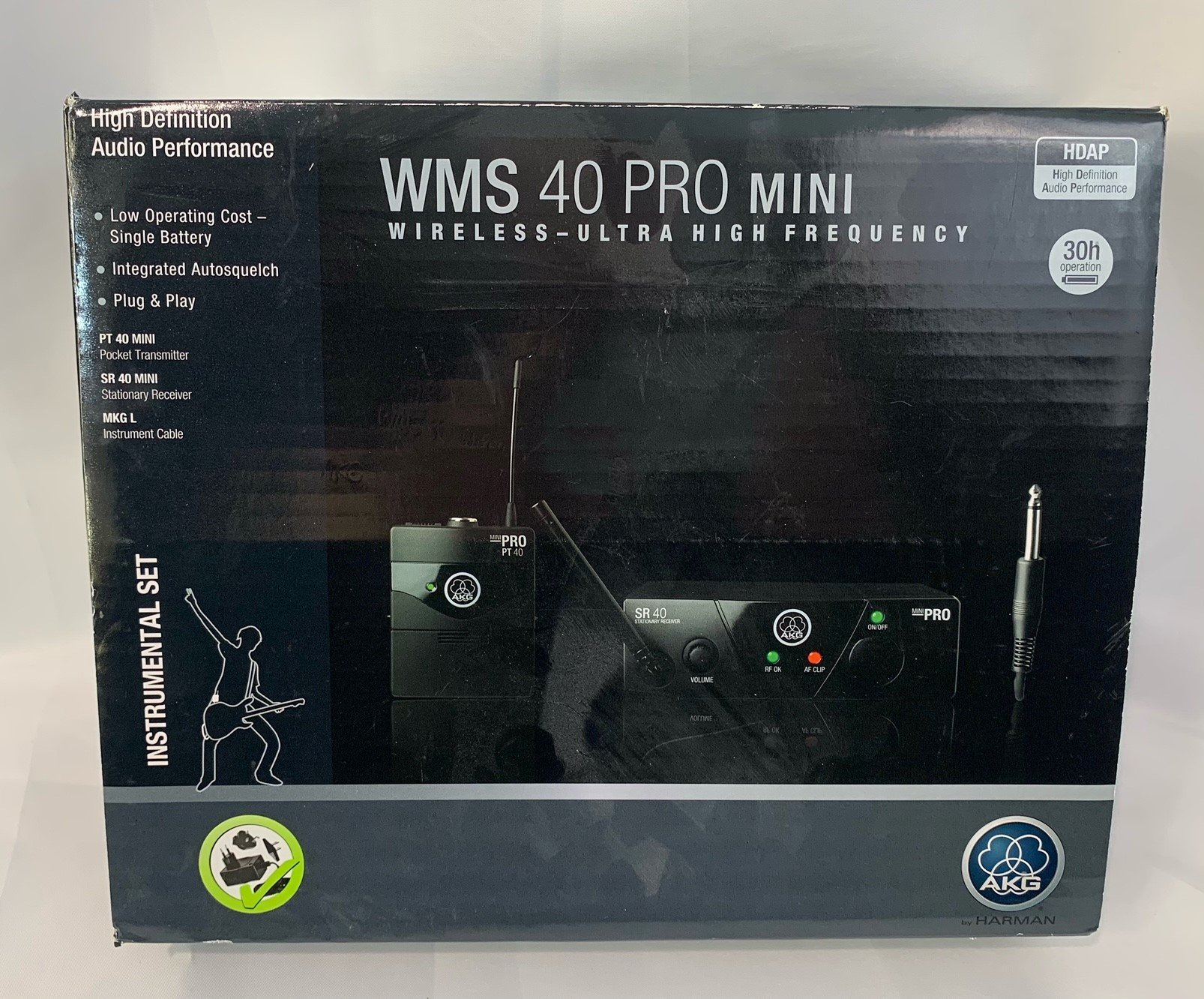 Used AKG WMS-40 Guitar Wireless System