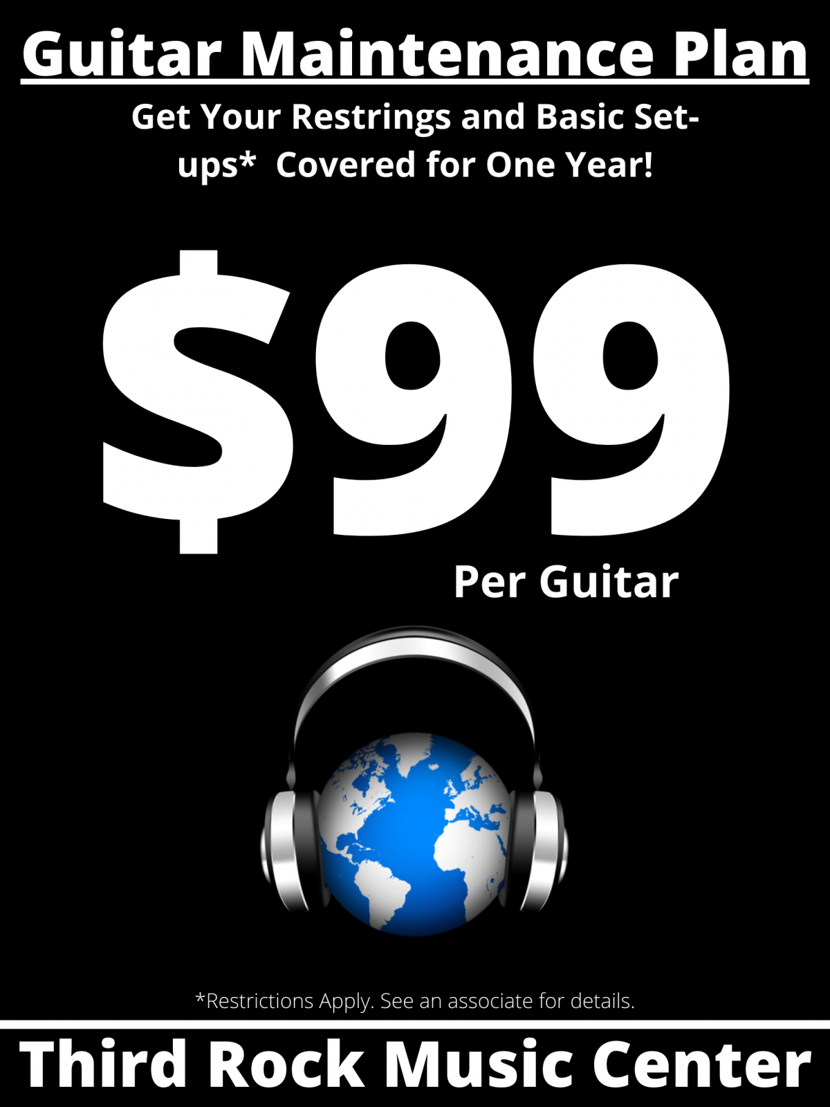 $99 Guitar Maintenance Plan (GMP)