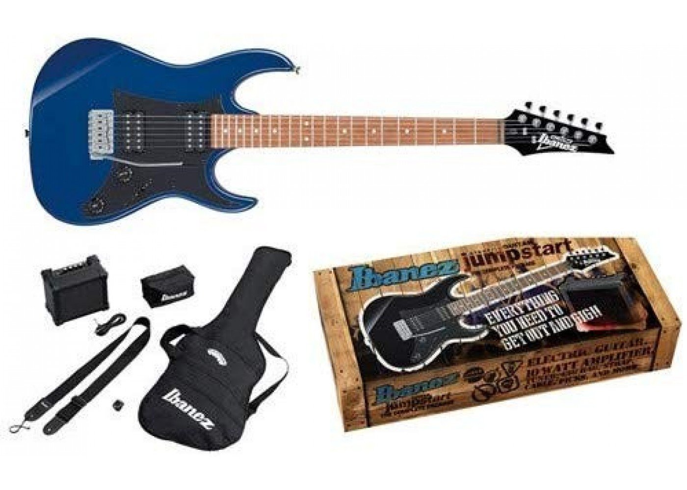 Ibanez Electric Guitar Package IJRX20ZBL Blue