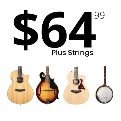 Twelve String, Classical Guitar, Mandolin and Banjo Setups $64.99