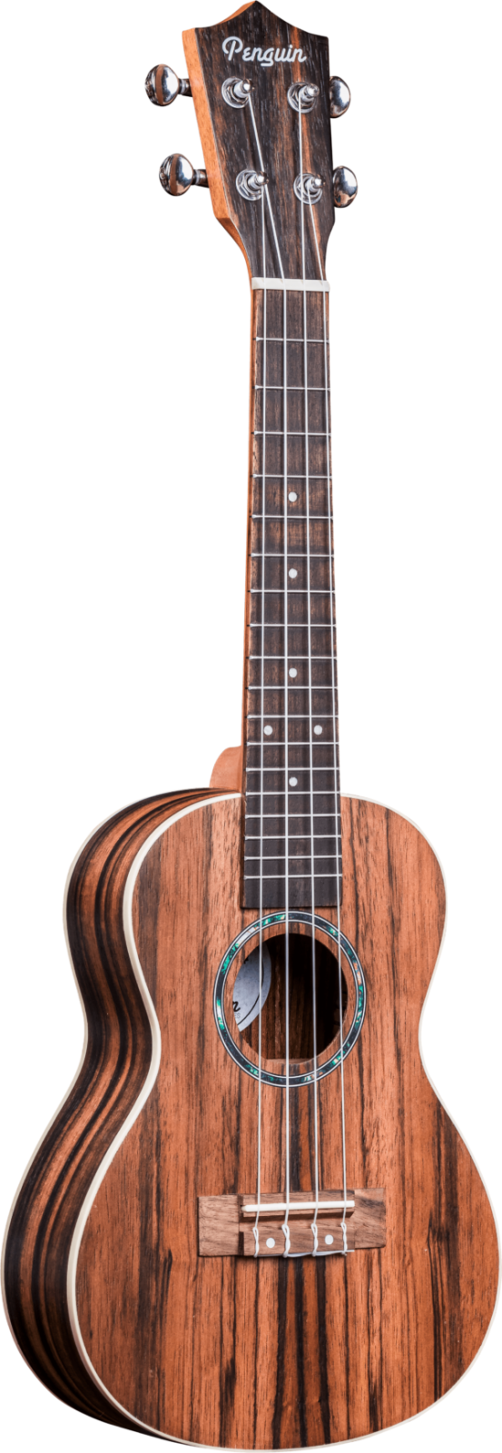Penguin PGUK990c Ebony  Wood Concert Uke w bag