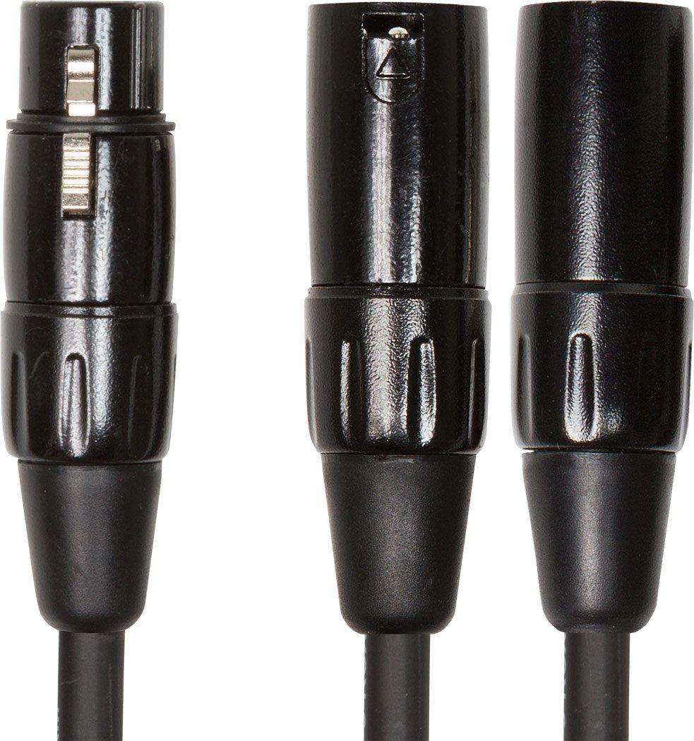 6  Dual XLR Male to XLR Fem