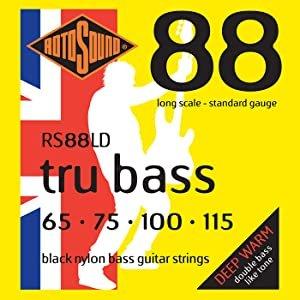 Rotosound RS88LD Black Nylon Bass Strings