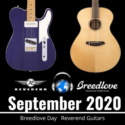 September Newsletter for Third Rock Music Center. Breedlove Day and Reverend Guitars.