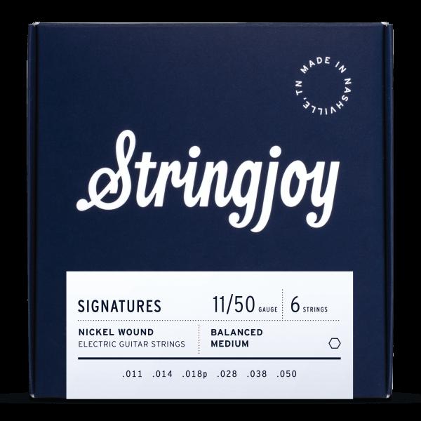 Stringjoy Balanced Medium (11-50) Nickel Wound Electric Guitar Strings